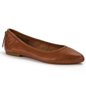 Frye Regina Ballet Flats in Cognac Size 8.5